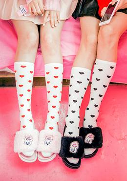 可愛單品滿版愛心長襪Heart to Heart Socks